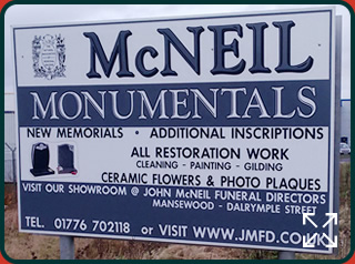 McNeil Monumentals Sign