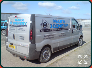 Marr Joinery Van Livery